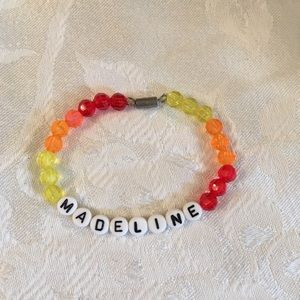 "MADELINE 6 1/2"" personalized bracelet-NEW"